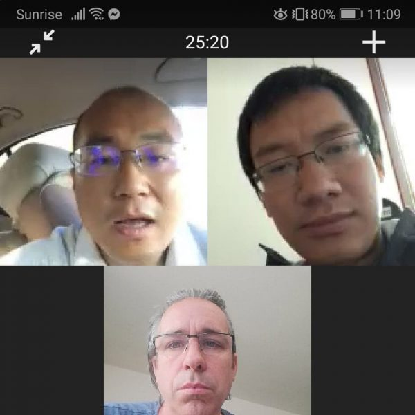 First meeting with Yanwu Guo and Hongbo Gao to build a Biolab in Beijing together