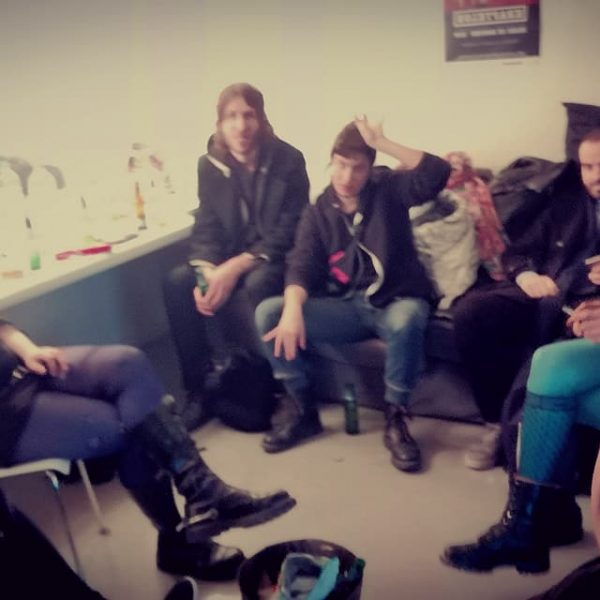 Backstage at  La Gaîté lyrique, before and after the performance :)