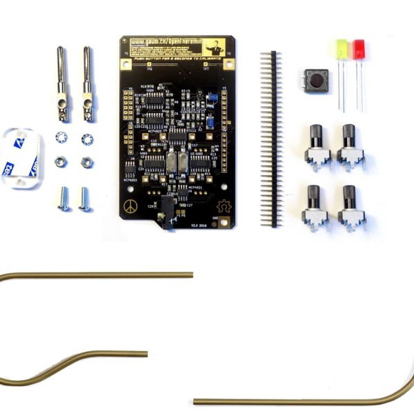 OpenTheremin with golden Antennas –  Now as bundle in gaudishop – geeky x-mas presents  https://gaudishop