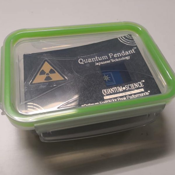 Had to put my Quantum Pendant in an air tight box because too much alpha radiation